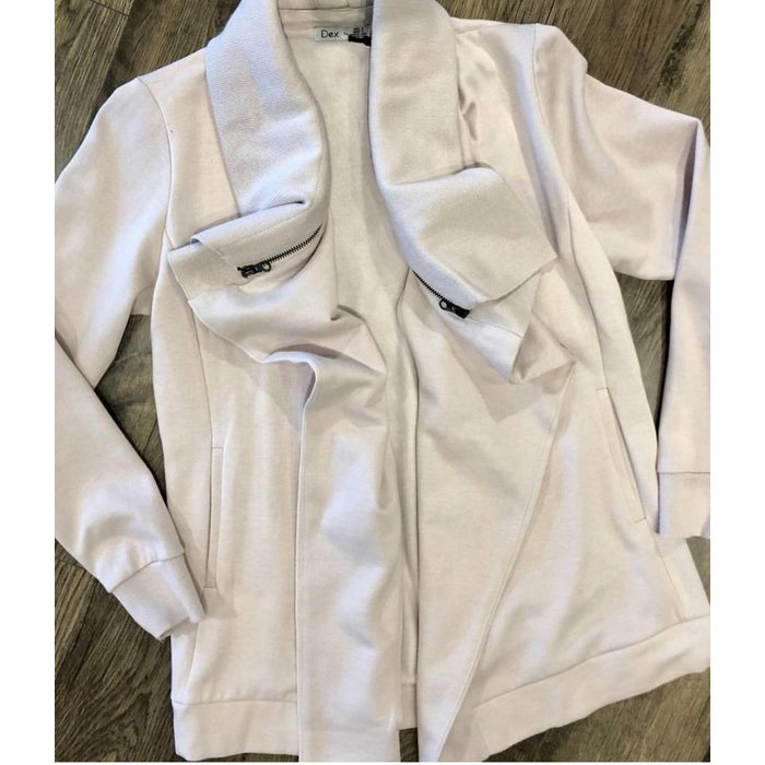 Cardigan w/ Zip Detail