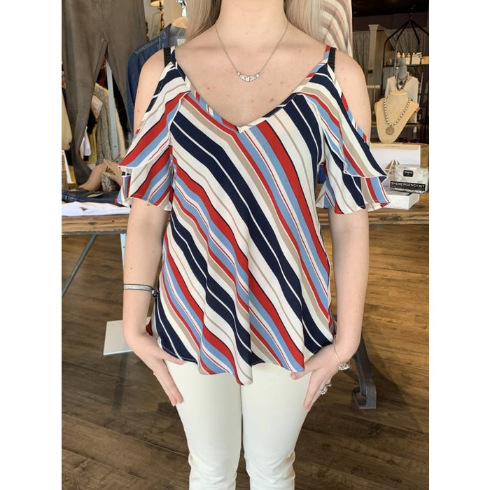 Off Shoulder Stripe Cami