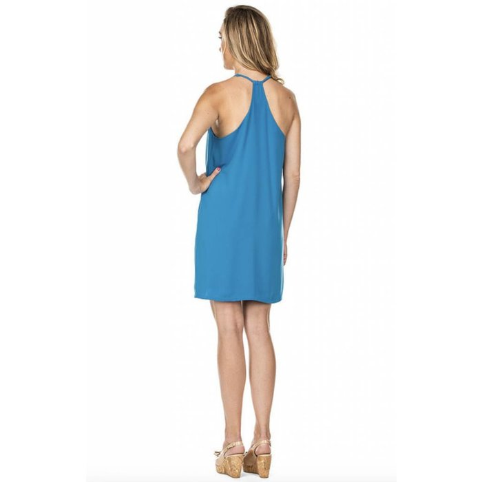 Pleated Racerback Dress