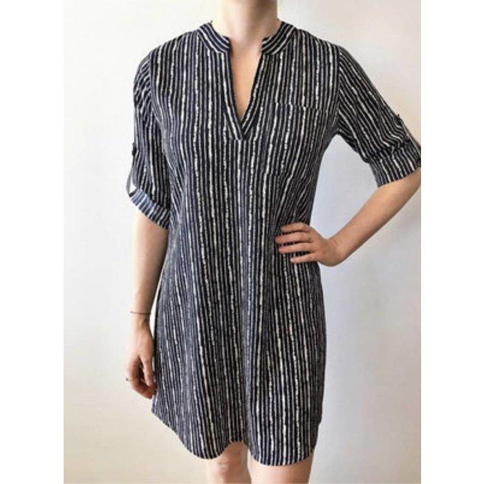 Rolled Cuff Shirt Dress