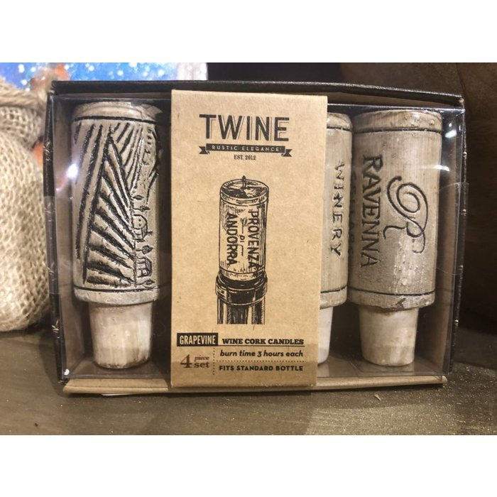 Twine Cork Candles