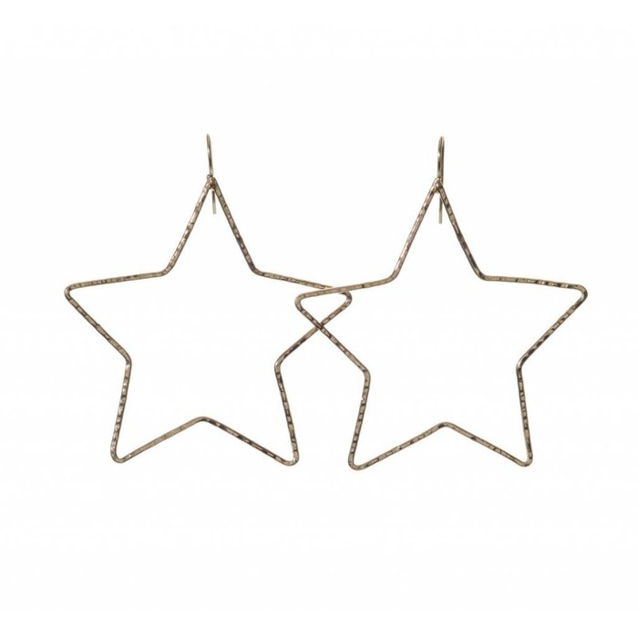 Large Star Hoop Earring Gold Filled