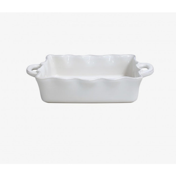 Medium Rectangular Ruffle Baker