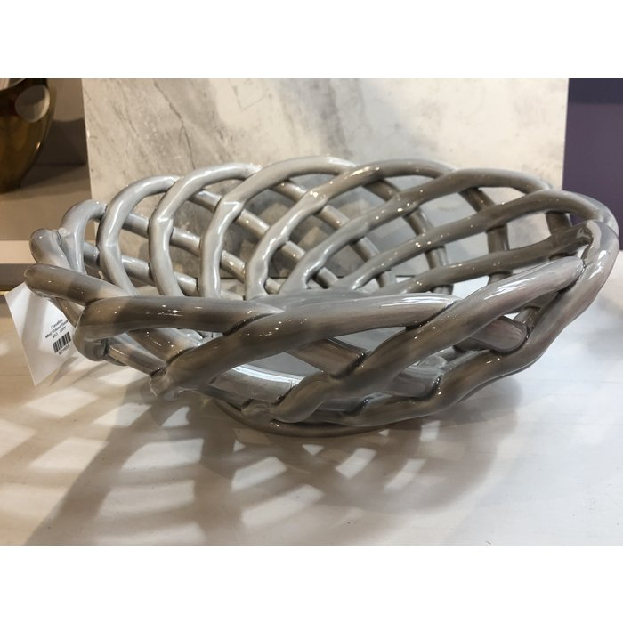 Stoneware Medium Round Basket