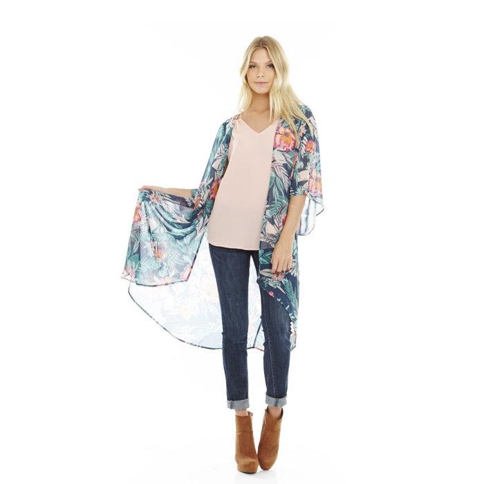 Kimono Palm Print