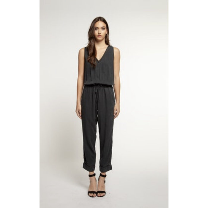 V Neck Pull On Jumpsuit