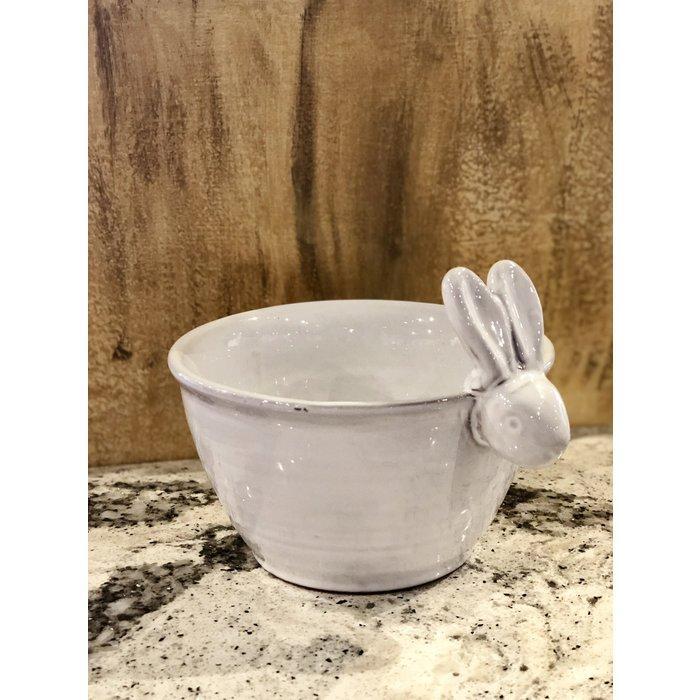 Terra Cotta Bunny Bowl--