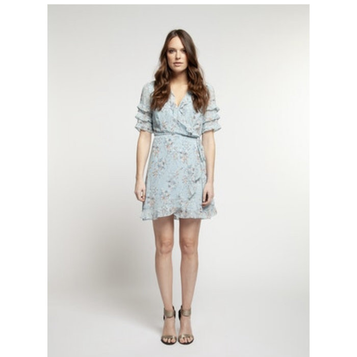 SS Baby Blue Wrap Dress