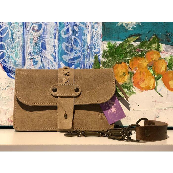 Leather Cross Body V Bag