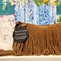 Fringe Suede Clutch--