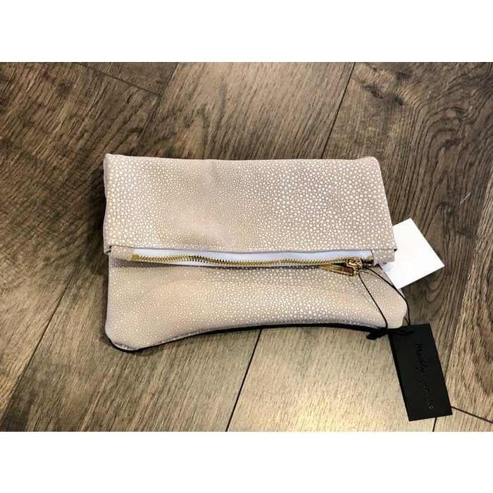 Fold Over Zip Clutch