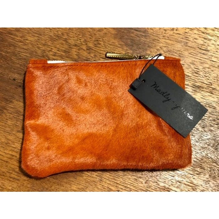 Mini Leather Zip Pouch