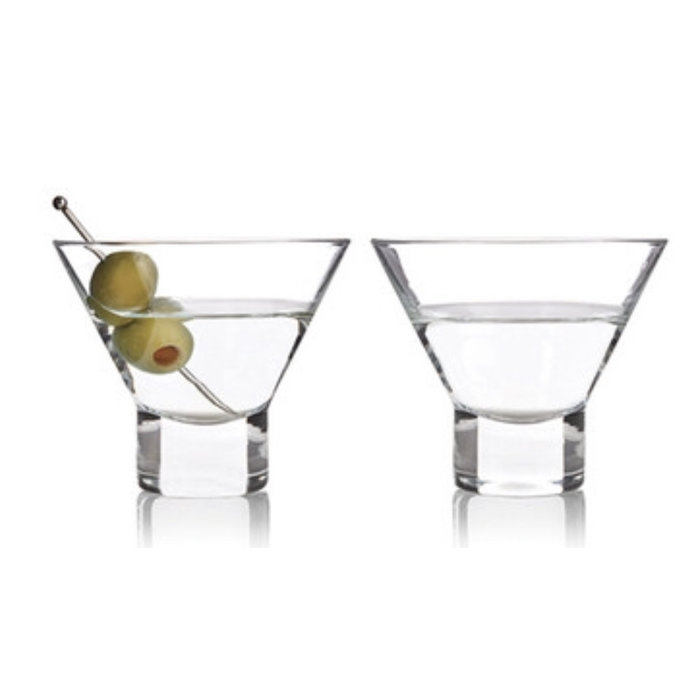 Stemless Martini Glasses Set/2