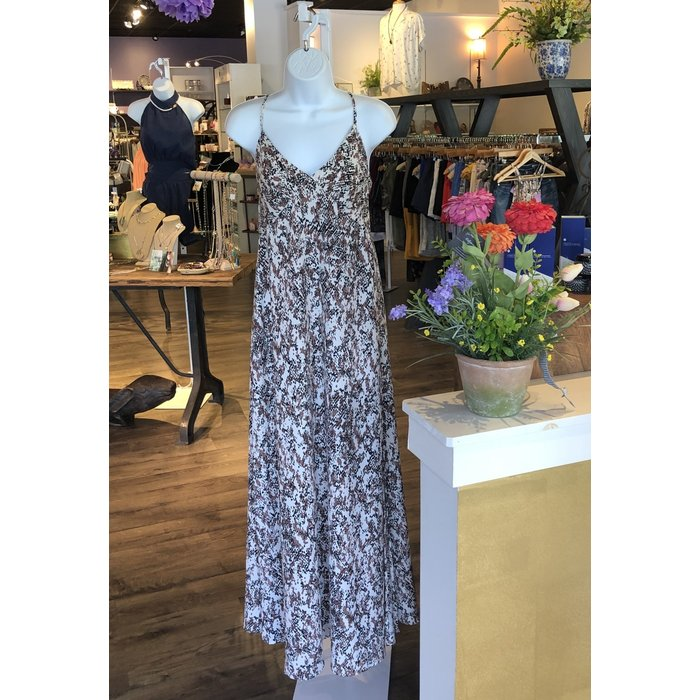 Print Maxi Dress w Side Slit