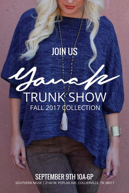 Events | Yana K Trunk Show 9.9.17