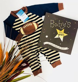 Applique Boy Football Boy's Romper