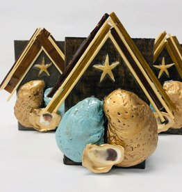 Handmade Oyster Nativity