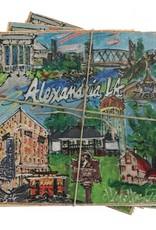Alexandria Wooden Coasters