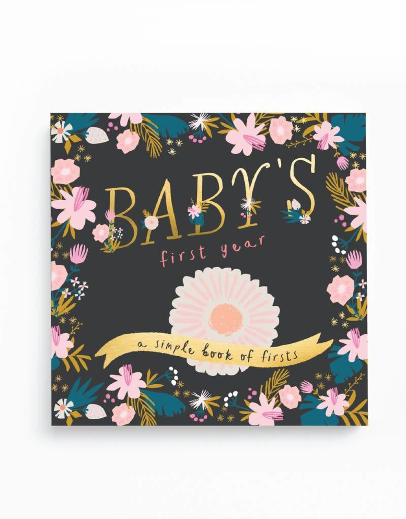 Baby's First Year Gold Foil - Roses
