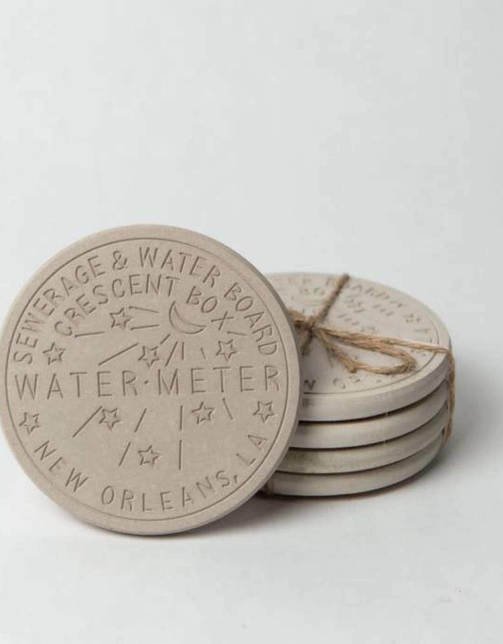 Cement Watermeter Coasters