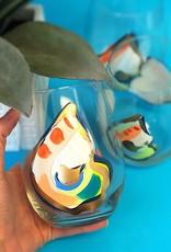 Wine Glass Single Oyster/Jazzy/Stemless