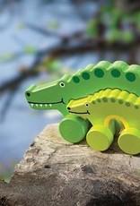 Mommy & Baby Push Toy Alligator