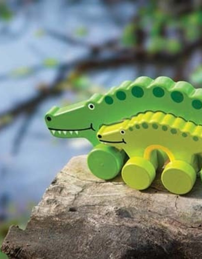 Mommy & Baby Push Toy Alligator