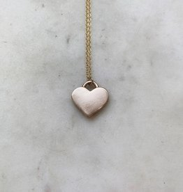 Live Out Love Heart Necklace Bronze 18'