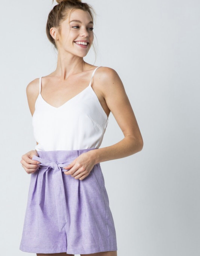 Lavender/White Romper
