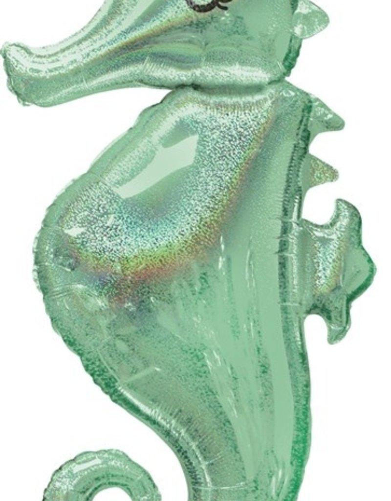 """Mermaid Seahorse Foil Balloon 38"""""""