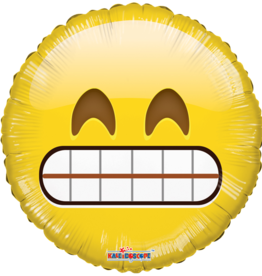 Smiley Teeth Emoji Mylar Balloon 18""