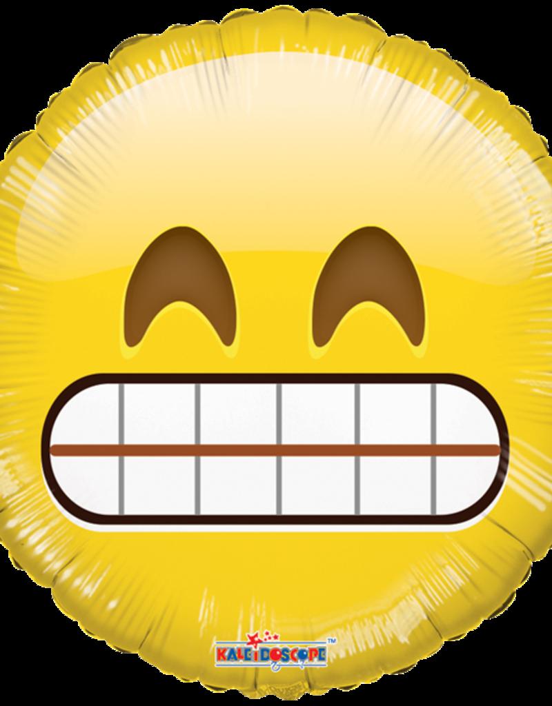 """Smiley Teeth Emoji Mylar Balloon 18"""""""