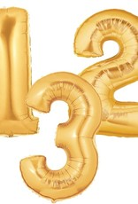 Gold Foil Number Baloon 40""