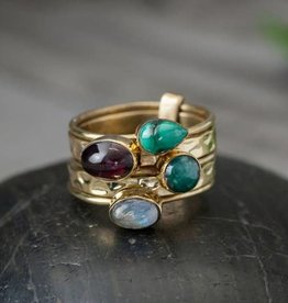 Five Stack Stone Ring