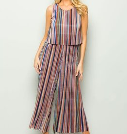 Multi-Color Striped Jumpsuit