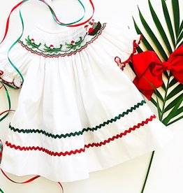 Smocked Cajun Christmas Dress