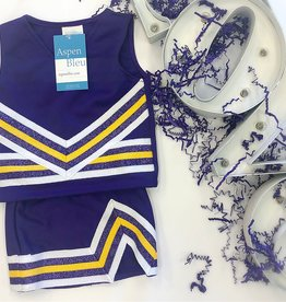 Purple and Gold Cheer Uniform