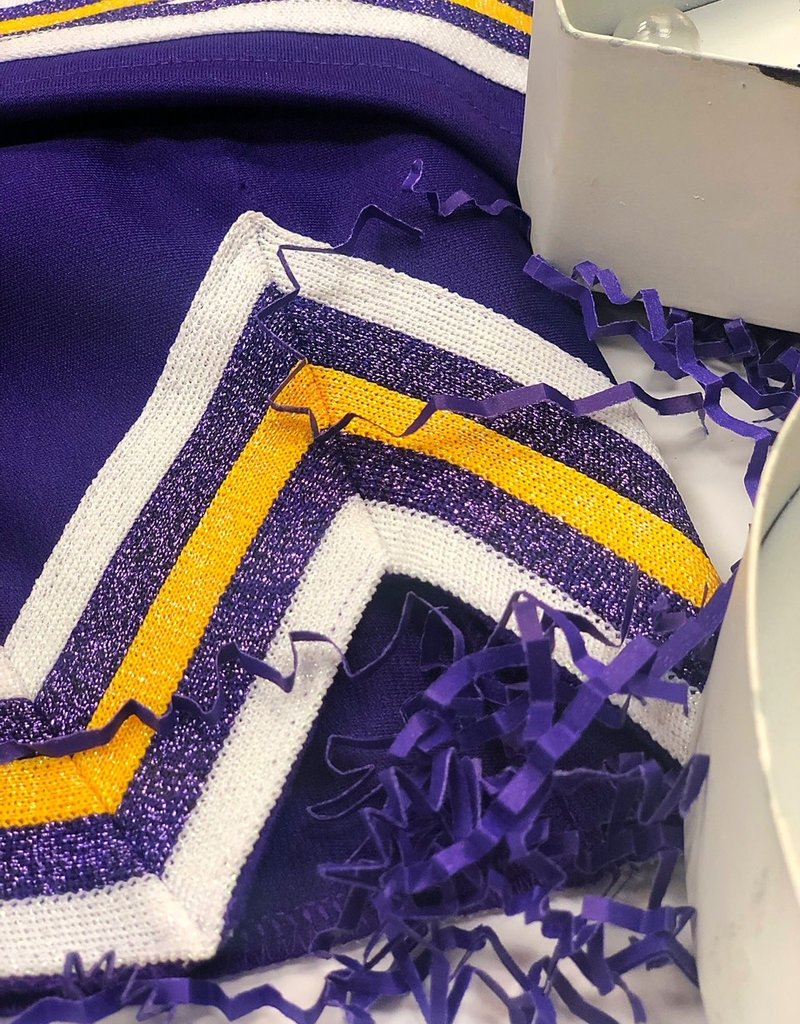 Purple and Gold Cheer Uniform