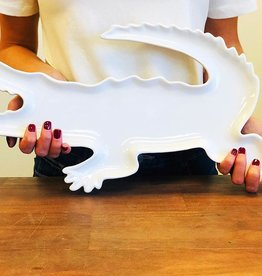 Ceramic Alligator Serving Platter