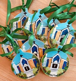 Custom Holiday Ceramic Ornament