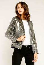 Silver Sequins Blazer