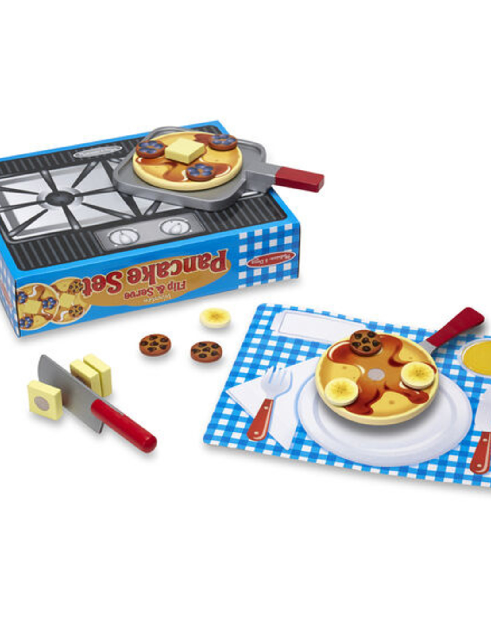 Melissa and Doug Wooden Flip and Serve Pancake Set