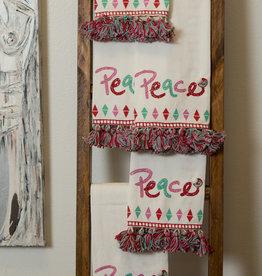 Peace Tassel Dish Towel