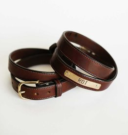 Traditional Brown Nameplate Belt