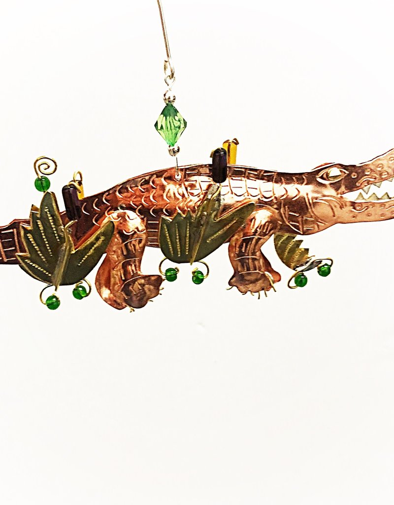 Metal Art Ornament - Alex the Alligator