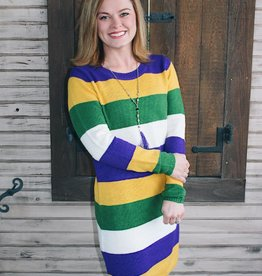 Mardi Gras Sweater Dress