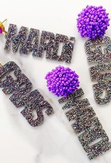 Mardi Gras Earrings - Confetti Glitter