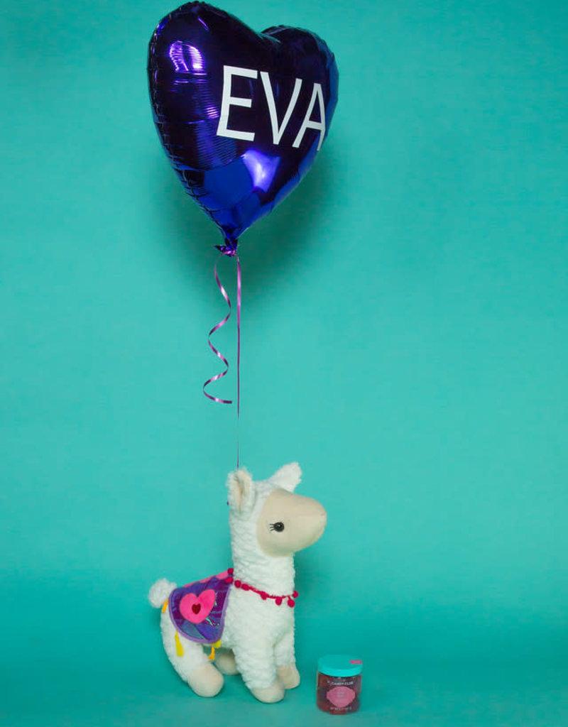 Valentine's Gift Set - Plush Llama, Balloon, & Candy