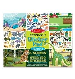 Melissa and Doug Reusable Sticker Pad - Habitats