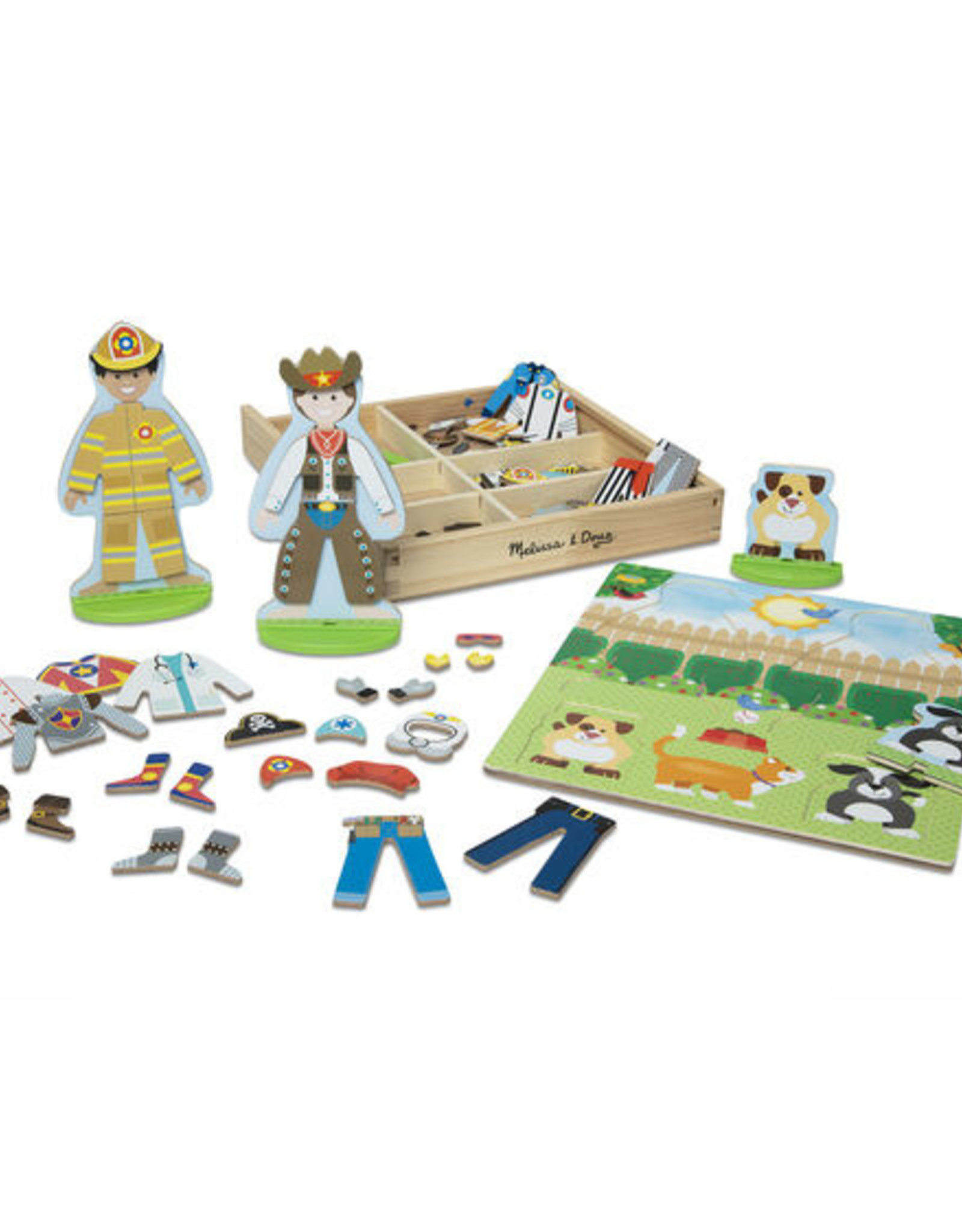Melissa and Doug Occupations Magnetic Pretend Play Set